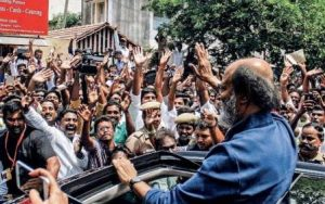 Megastar Rajinikanth addressing people