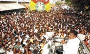 Superstar Vijayakanth addressing a rally