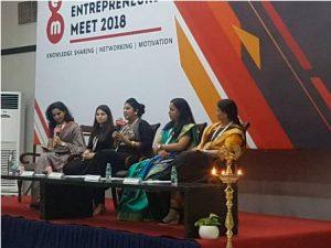 Women entrepreneurs during the meet