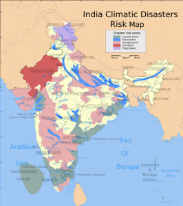 Disaster-prone regions in India