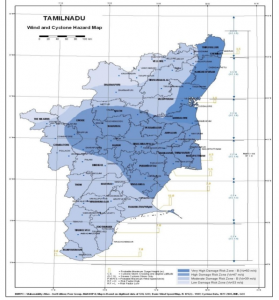 Cyclone hazard map of TN